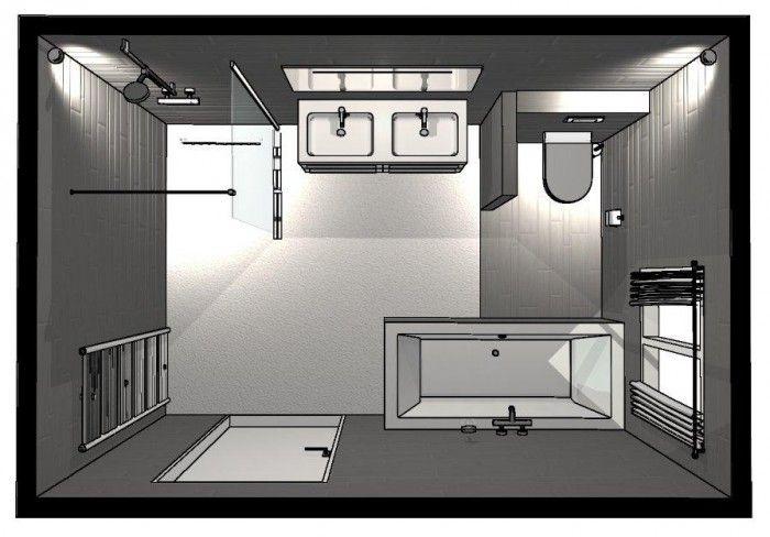 Badkamer indeling | Huis | Pinterest | Baños, Baño y Baño pequeño