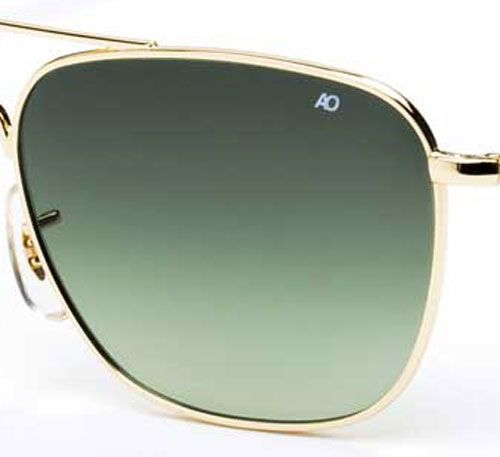 cd78035e37f6 AO Eyewear Original Pilot Limited Edition Gradient Green Polycarbonate  Lenses
