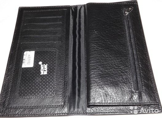 7245718b34ed Мужской кожаный купюрник портмоне Montblanc новый купить в Москве на Avito  — Объявления на сайте Avito