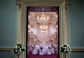 looking into the ballroom