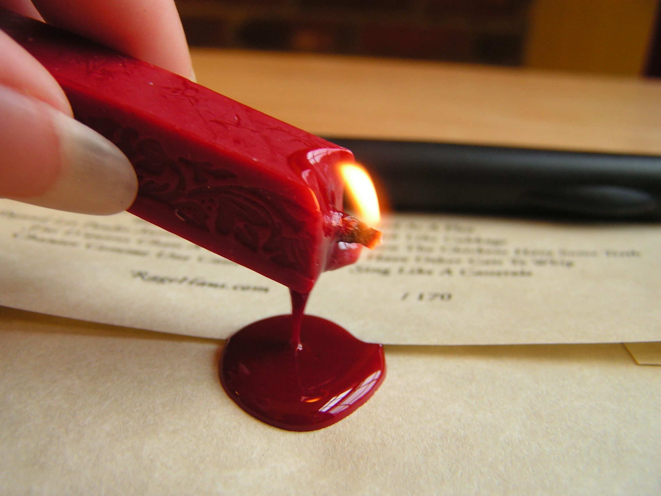Wax Seal. I use to have my initials in a wax seal, when I would ...