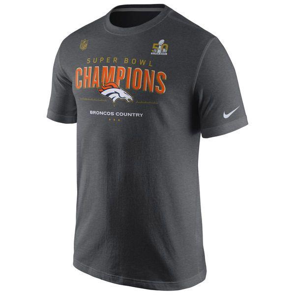 Nike Denver Broncos Dark Gray Super Bowl 50 Champions Trophy Collection  Locker Room T-Shirt 12a651dea