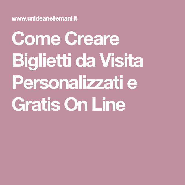 Come Creare Biglietti Da Visita Personalizzati E Gratis On Line