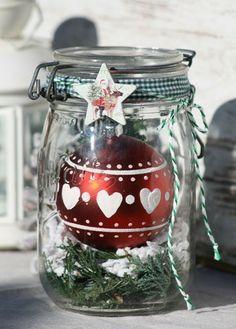 Weihnachtskugel im Weihnachtsglas / Schneegestöber von Deko-TU-Shop auf DaWanda.com #weihnachtsdekoglas