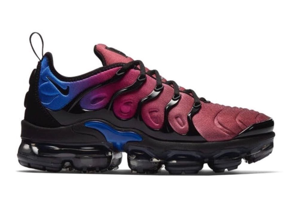 3f15b942a5 WMNS Nike Air Vapormax Plus Sunset Purple Blue Multicolor Womens Retuned Air