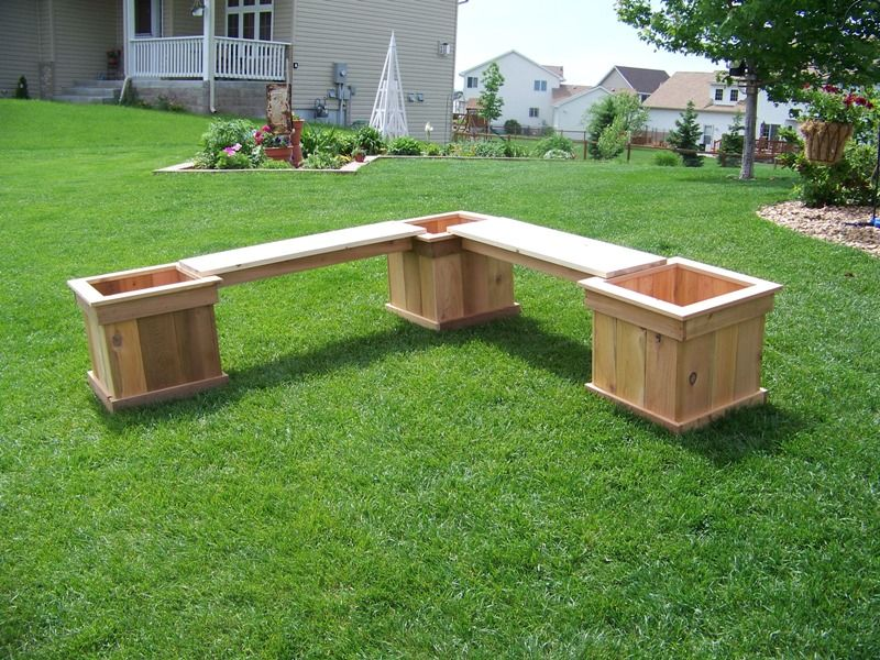 Superb Http://www.vanderhoffconstruction.com/Gallery/Furniture/LPlanterBench1  | Home Projects! | Pinterest | Planter Bench, Patio Bench And Bench