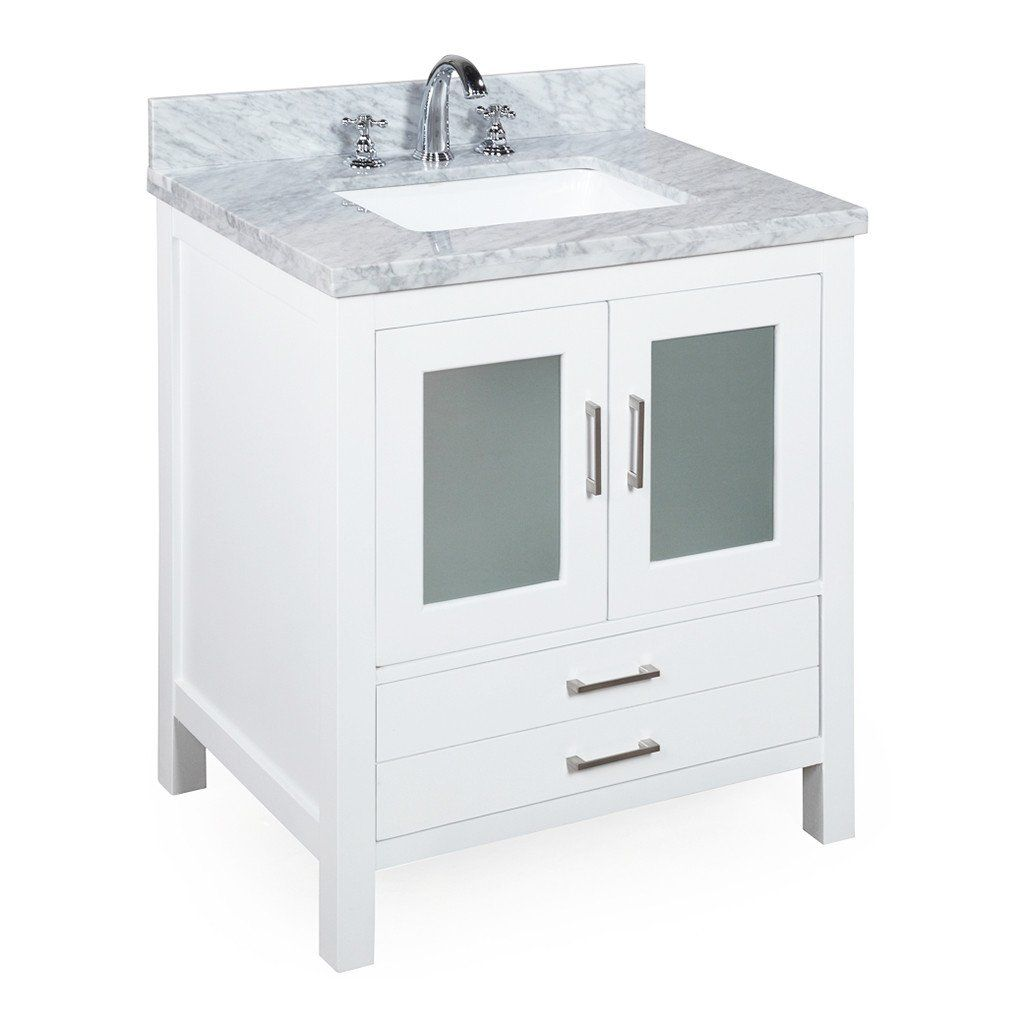 Manhattan inch vanity carrarawhite carrara products and