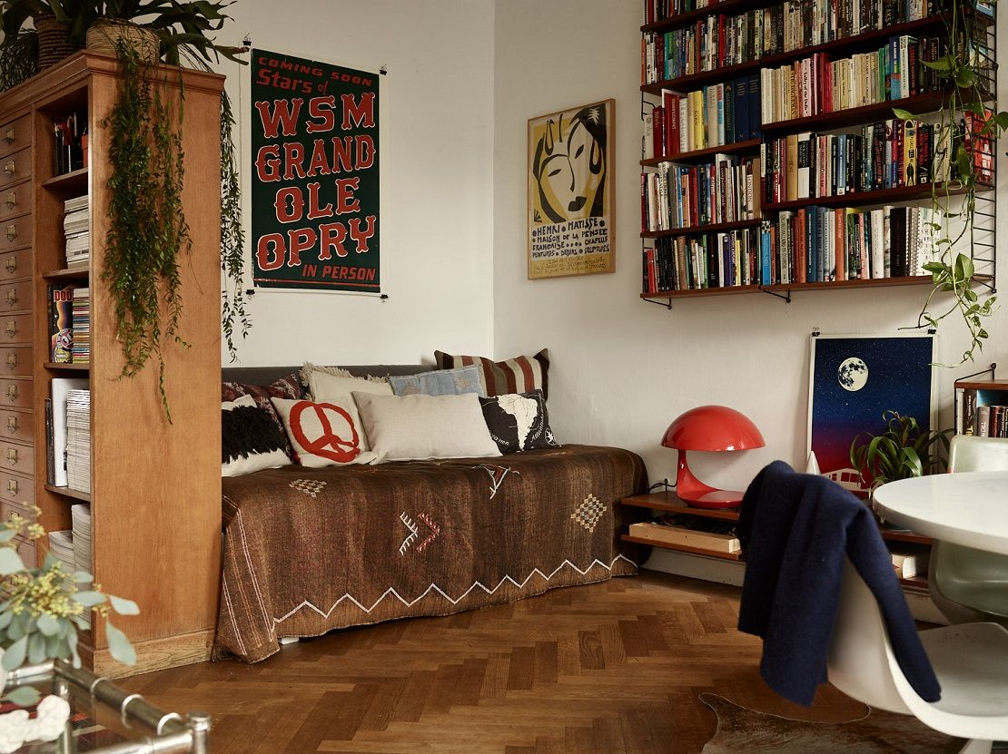 A Small Vintage Bohemian Apartment in Stockholm | Bohemian ...