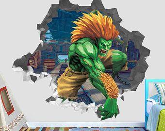 Blanka Street Fighter Wiki Wall Decal 3d Kids Sticker Art Decor