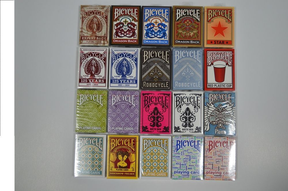 Bicycle Playing Cards - 20 Different Deck Designs - Poker & Magic Free Shipping #BICYCLE
