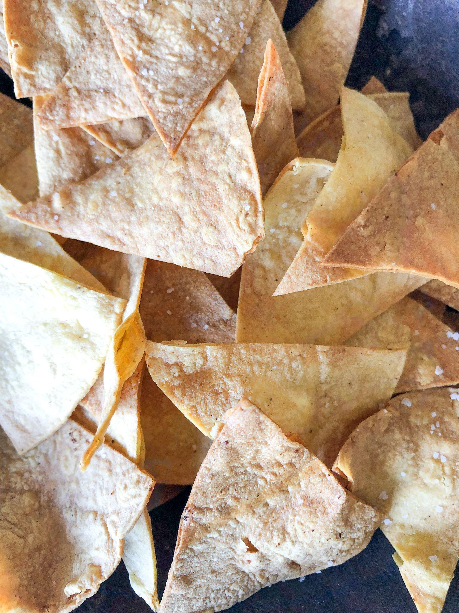Air fryer tortilla chips mission yellow corn tortillas