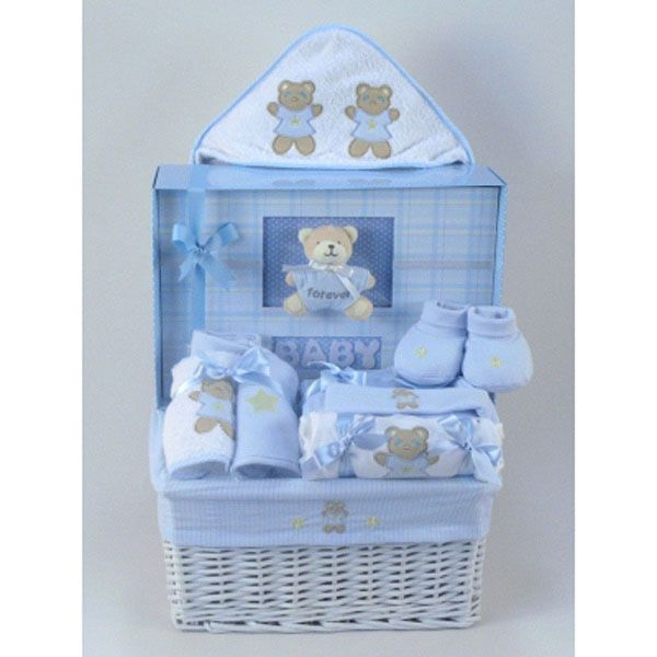 Forever Baby Book Gift Basket Boy BABY SHOWER