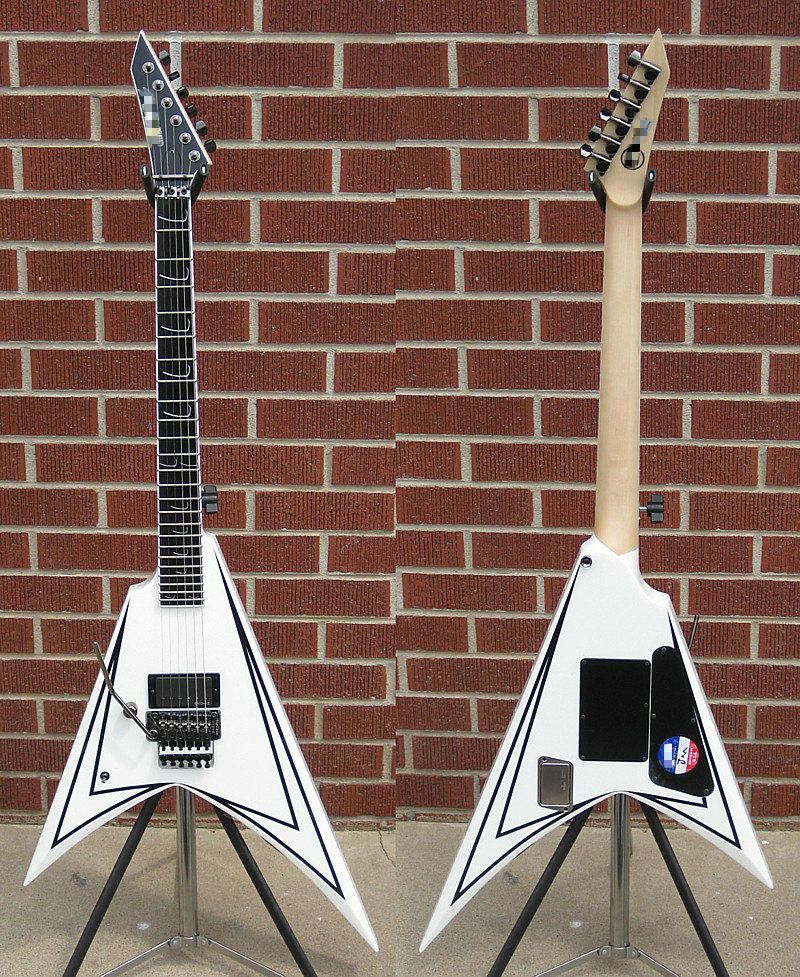esp custom ordered signature series alexi laiho scythe white esp custom ordered signature series alexi laiho scythe white