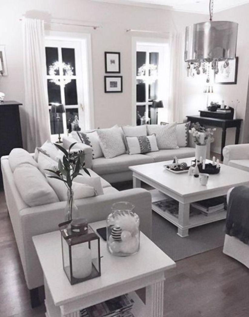 Nice Living Rooms Designs: 48 Modern White Living Room Design Ideas