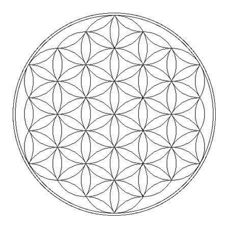 Comment Dessiner Une Fleur De Vie Mandalas Pinterest