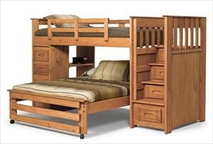 Nebraska Furniture Mart Woodcrest Twin Over Full Bunk Bed Kids