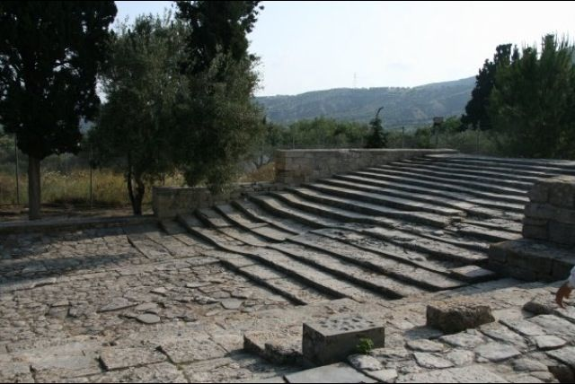 World's oldest road & outdoor theater. Minoan, Crete.