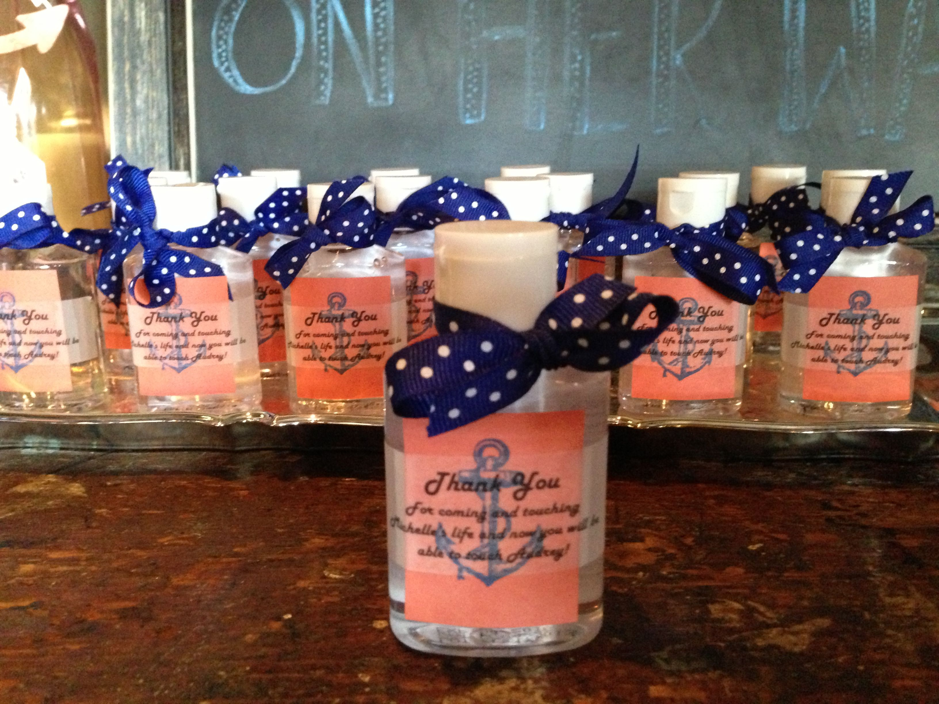 Hand Sanitizer Favors For Audrey S Baby Shower Baby Shower