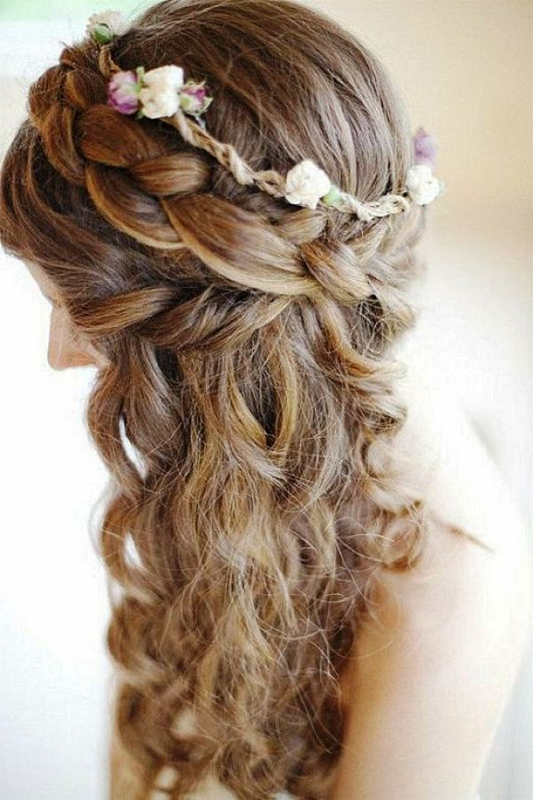 Fabulous 1000 Images About Beautiful Curly Wedding Hair Ideas On Pinterest Short Hairstyles Gunalazisus