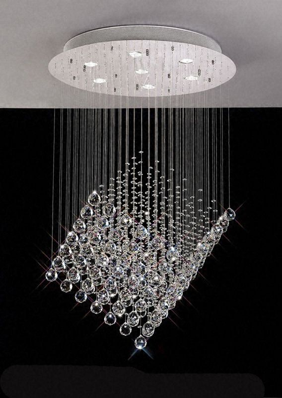 awesome cube shape floating crystal pendant chandelier chandelier