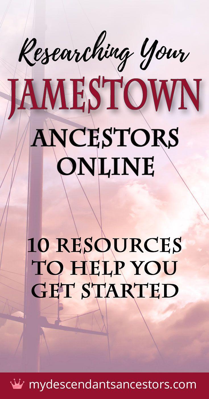 Researching Your Jamestown Ancestors Online #ancestors