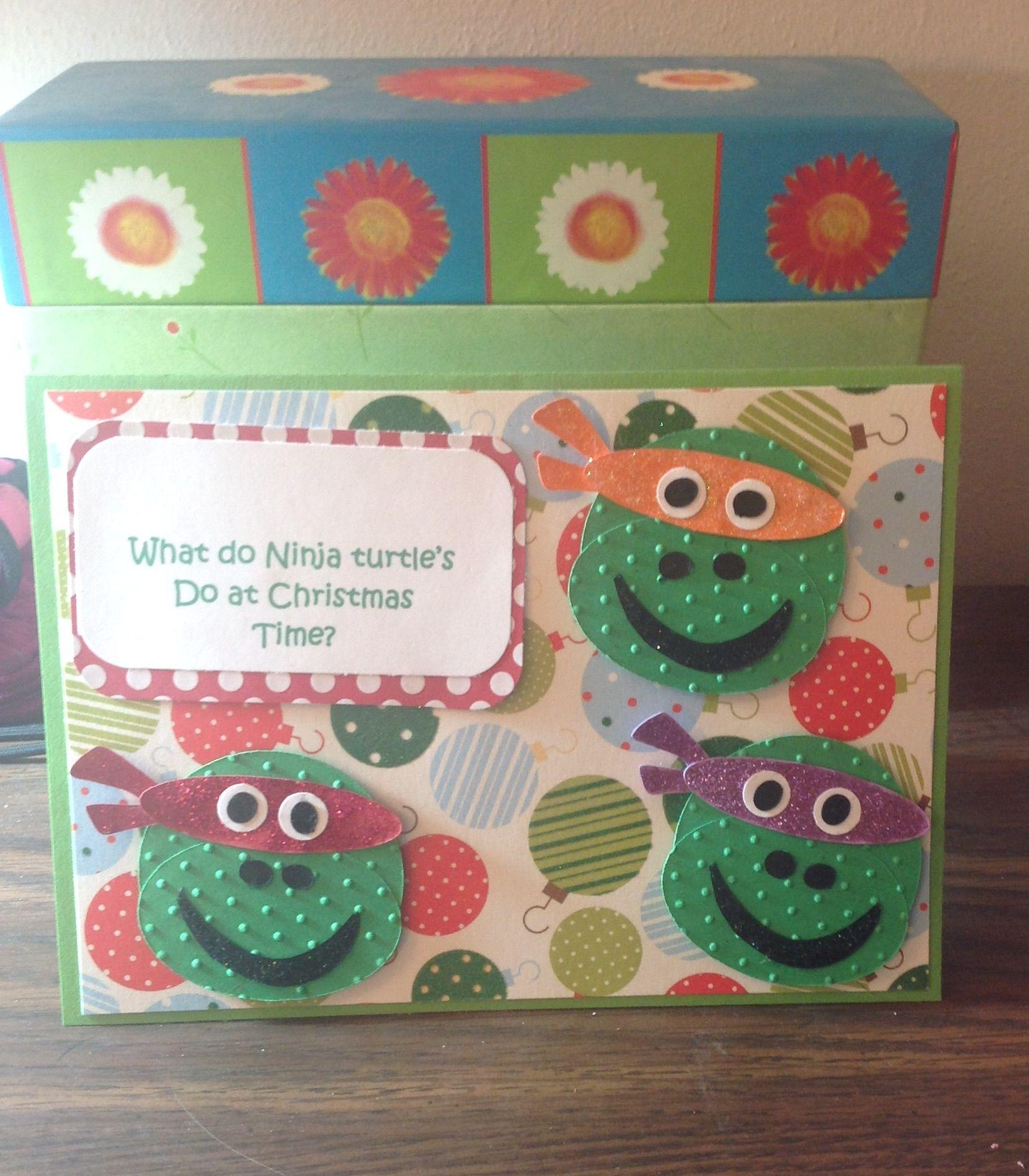 Ninja turtle cricut card