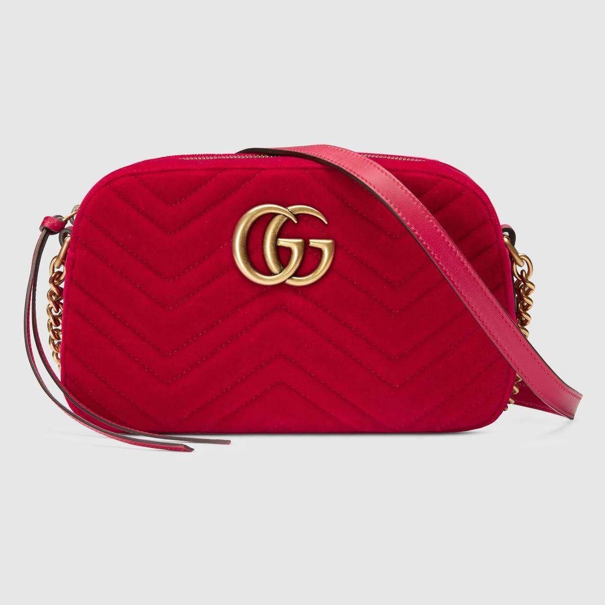 f55575fa84b1 GG Marmont velvet small shoulder bag - Gucci Women's Shoulder Bags  4476329QIBT6433