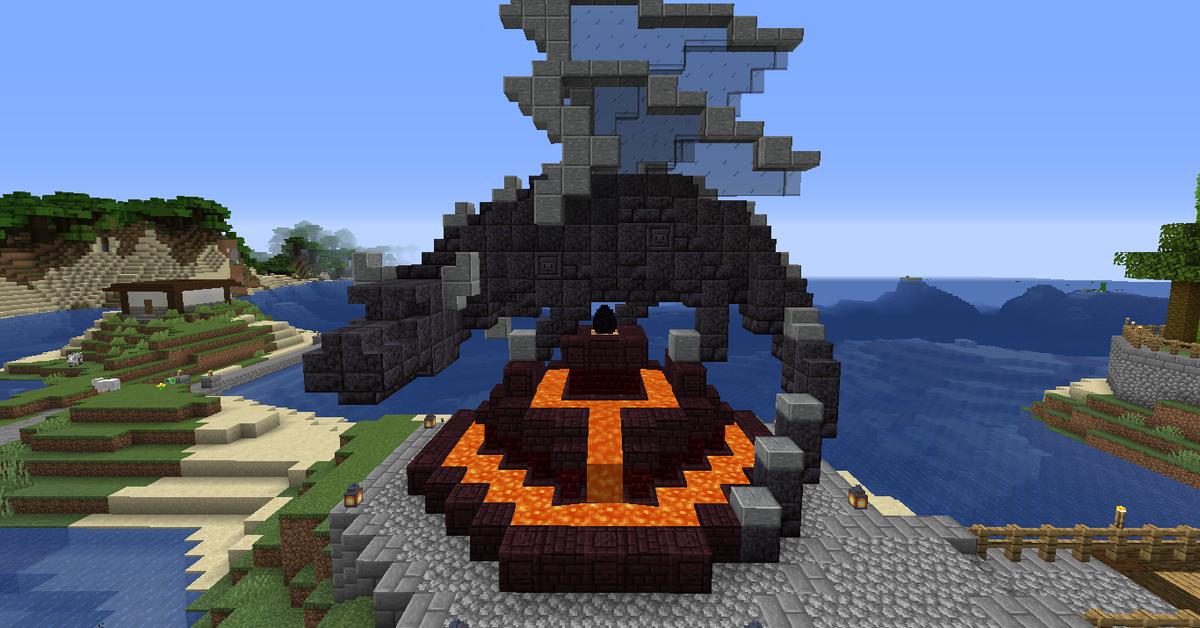 Dragon Egg Monument Minecraft Minecraft Blueprints Minecraft Projects Minecraft Designs