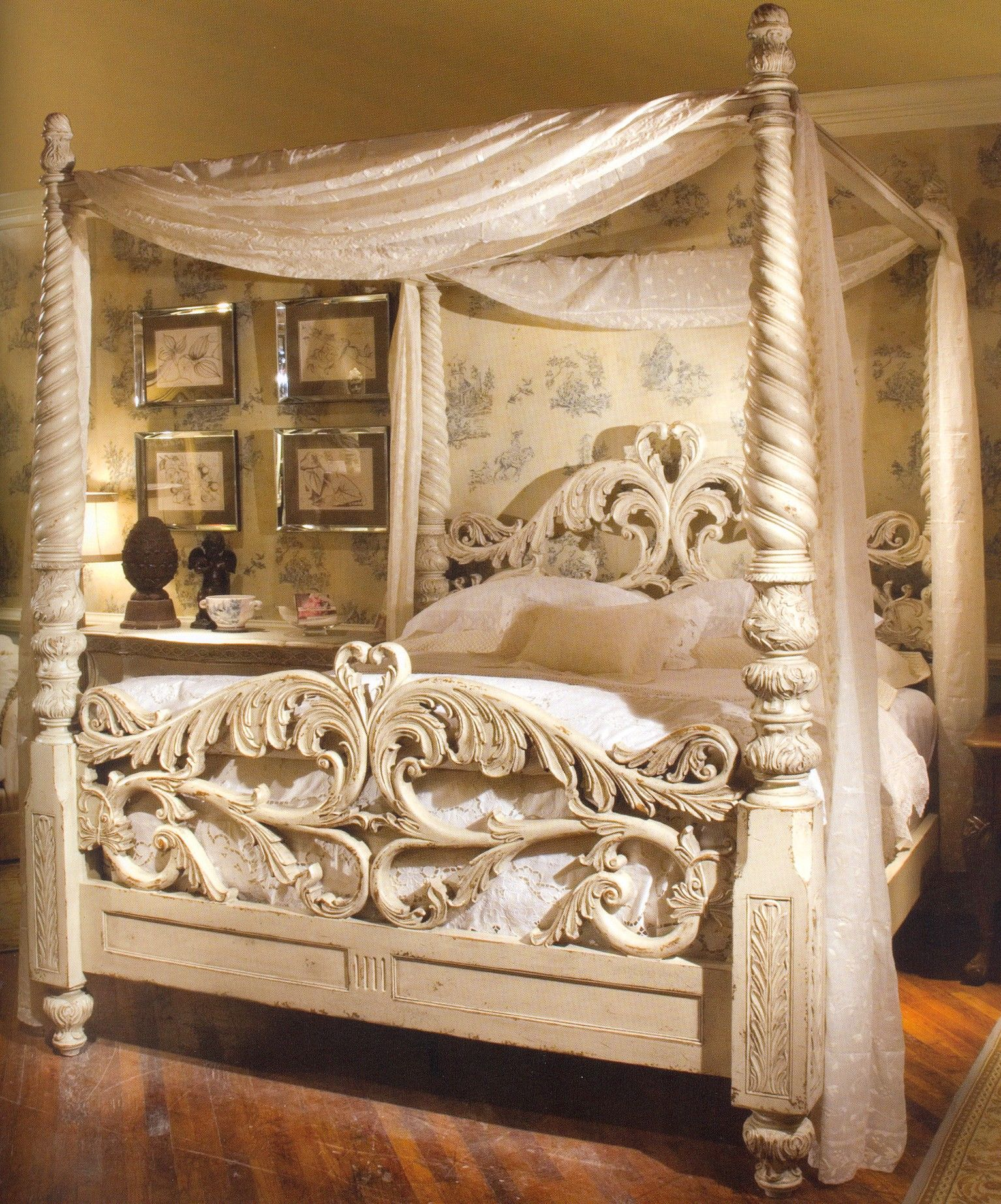Antique Elegant Bedroom Bed Home Bedroom