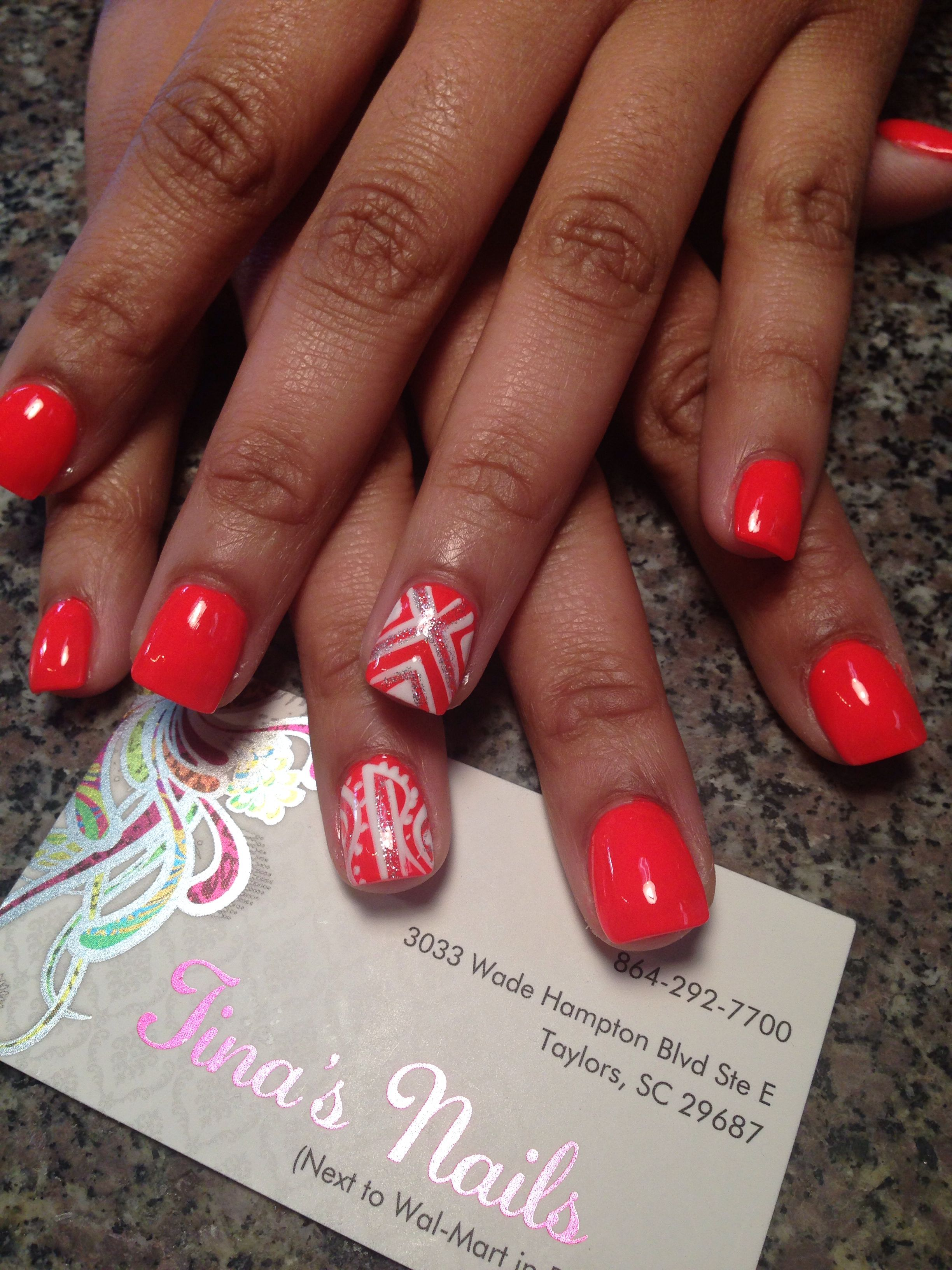 Nail designs nail art 3d art freestyle marble umbre free hand ...