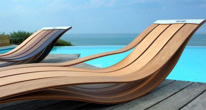 Gartenloungemöbel garten lounge möbel liegestuhl holz designermöbel ideen für den