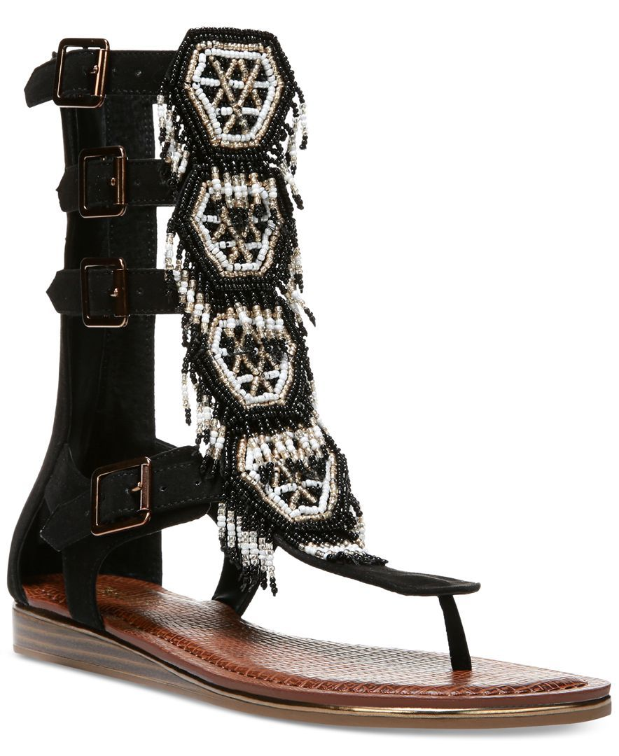 102f2662fa96 Carlos by Carlos Santana Taos Beaded Gladiator Sandals