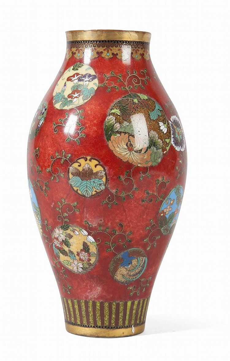 Small japanese red cloisonn vase in the manner of namikawa meiji small japanese red cloisonn vase in the manner of namikawa meiji period high reviewsmspy