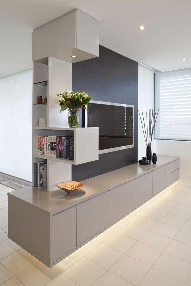 Die Moderne Wohnwand Im Wohnzimmer Exklusive Ideen Von Dall