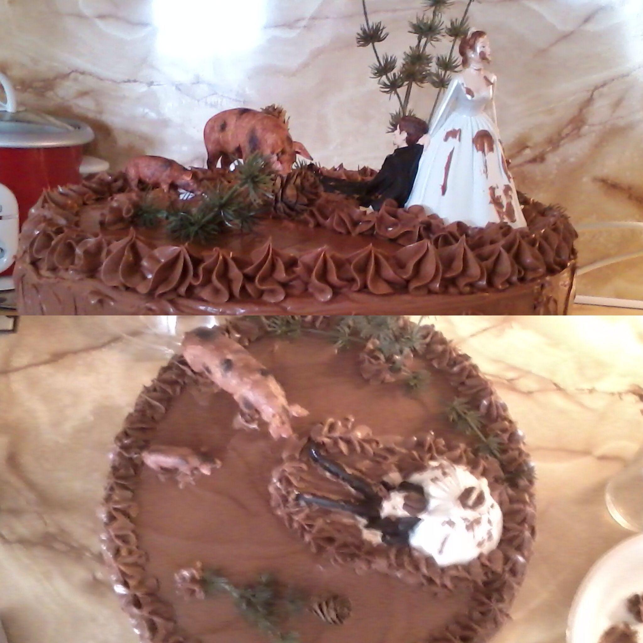 Hog hunting grooms cake | Kim wedding | Pinterest | Hunting grooms ...