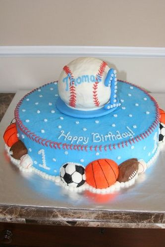 First Birthday sports cake Birthdays Cake and Birthday cakes