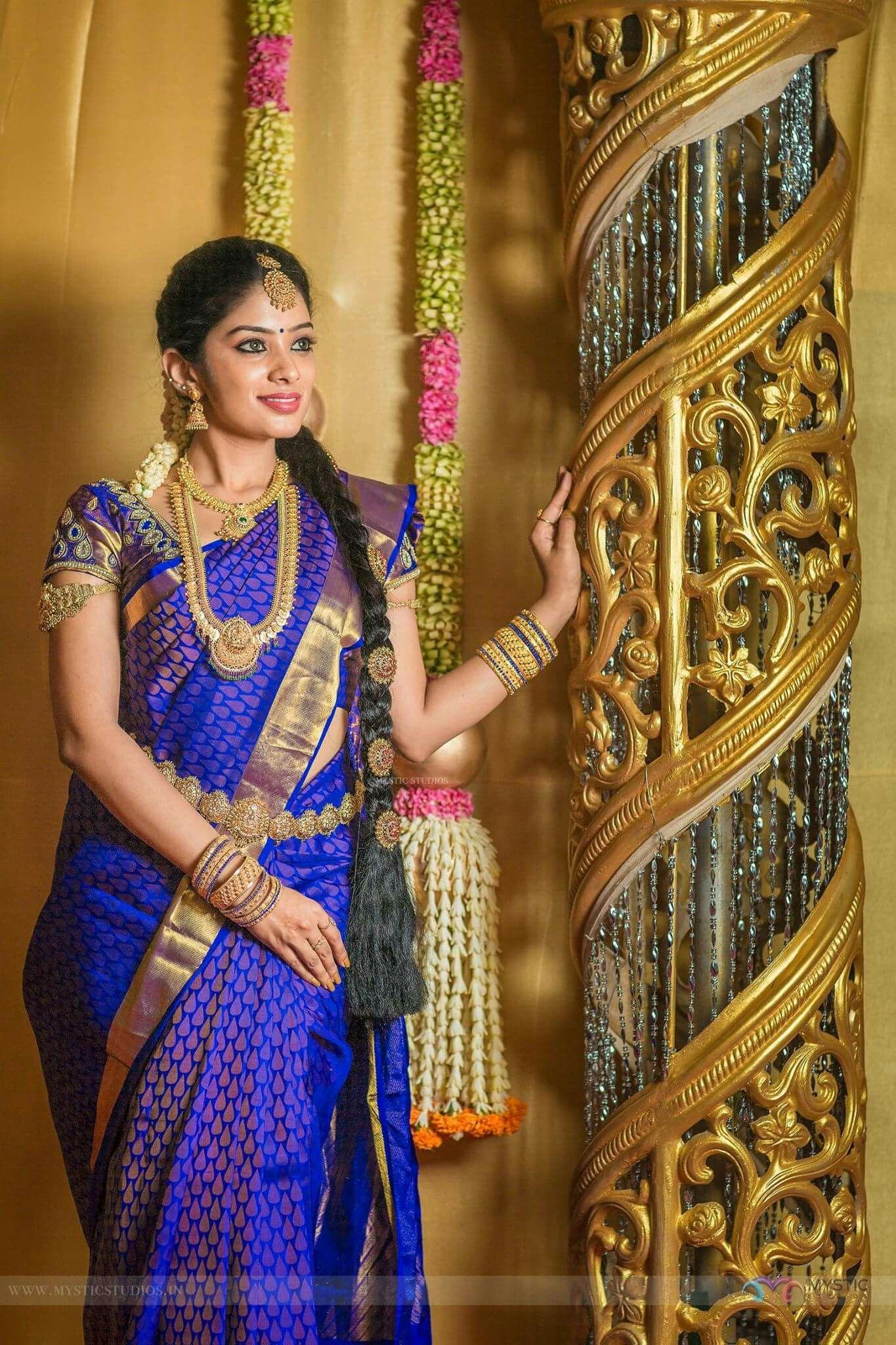 Pin by Almeena on Saree's South indian wedding saree