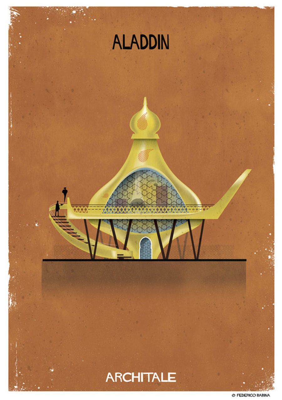 Illustrations of the House of Famous Fairytales Characters-8