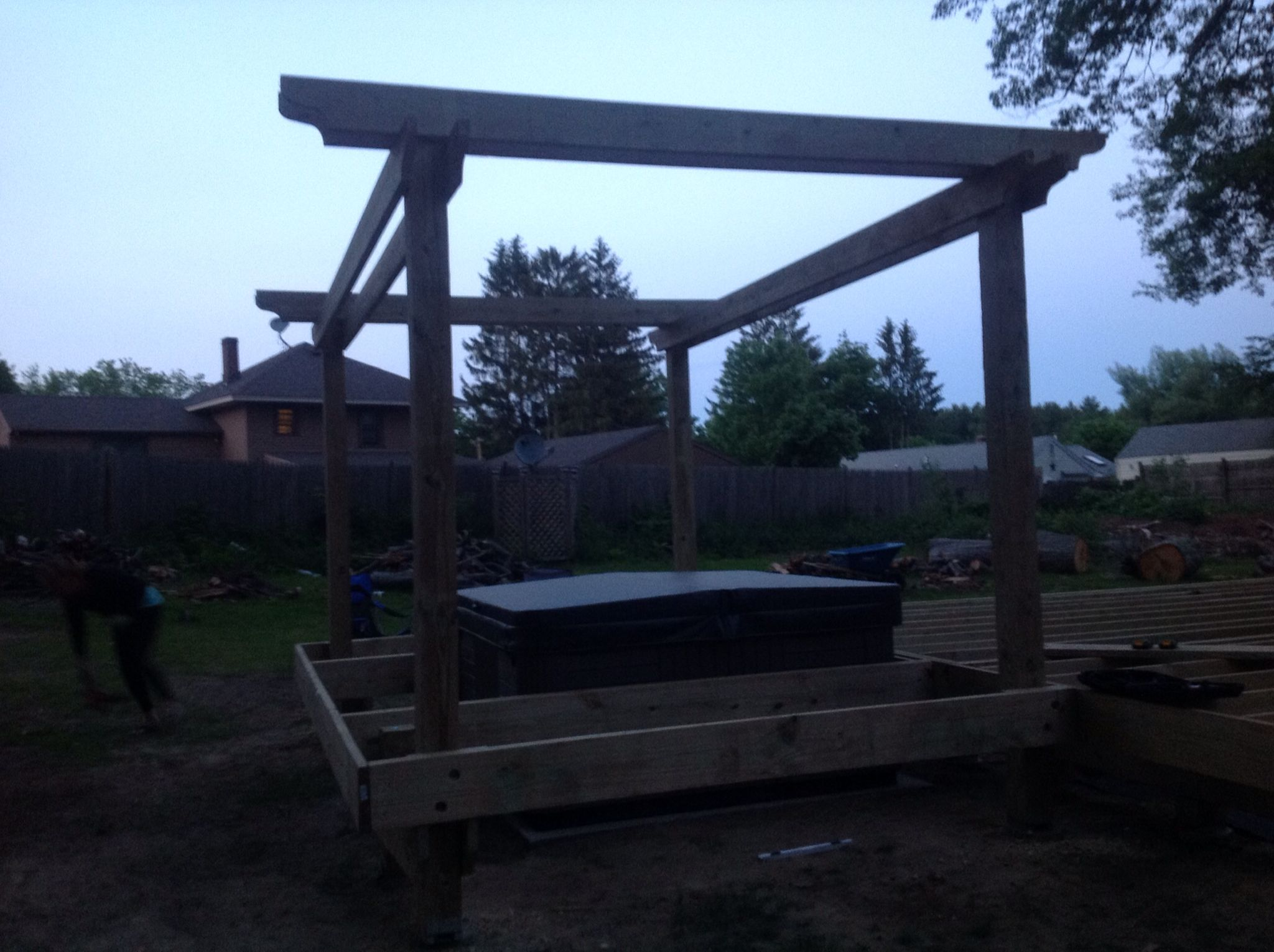 Hot tub install | Deck / Hot Tub build | Pinterest | Hot tubs, Tubs ...