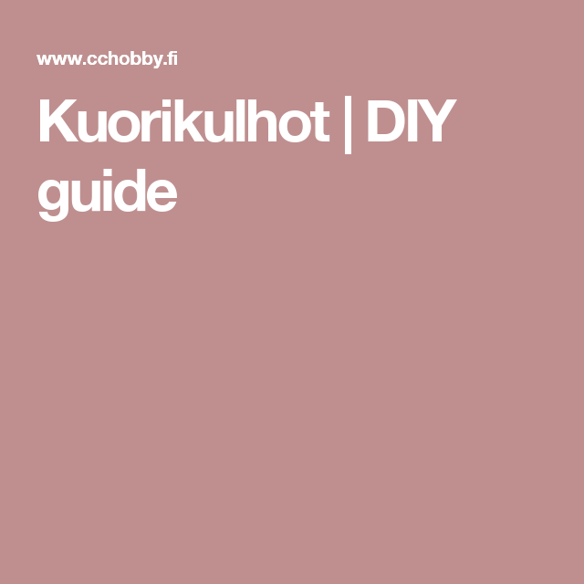 Kuorikulhot | DIY guide
