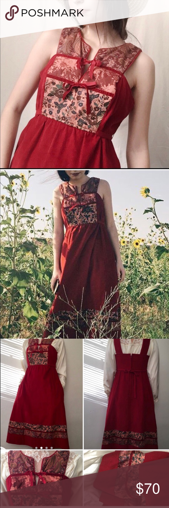 586c61dbe00 Vintage Corduroy Dress Absolutely stunning and breathtaking vintage dress  in a deep red corduroy material!