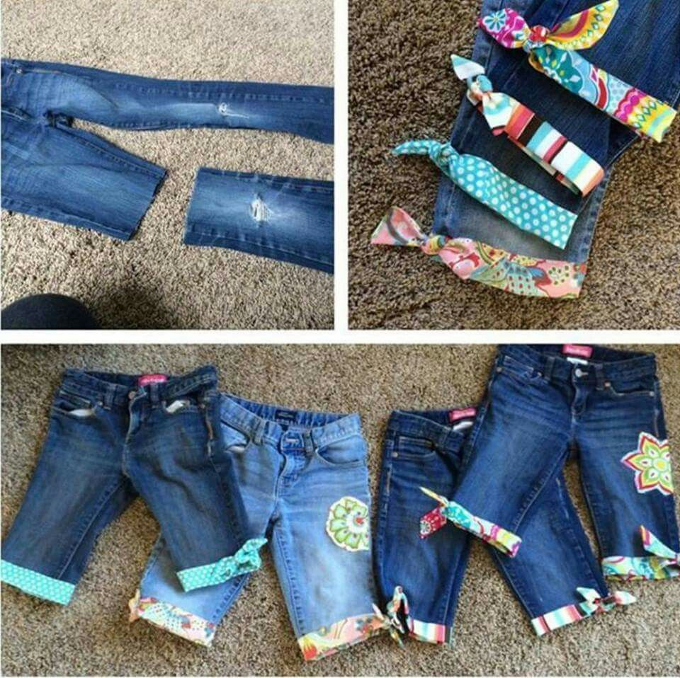 Upcycling Clothes How To Upcycle Old Jeans Into Cute Shortsthis Is Such A Great