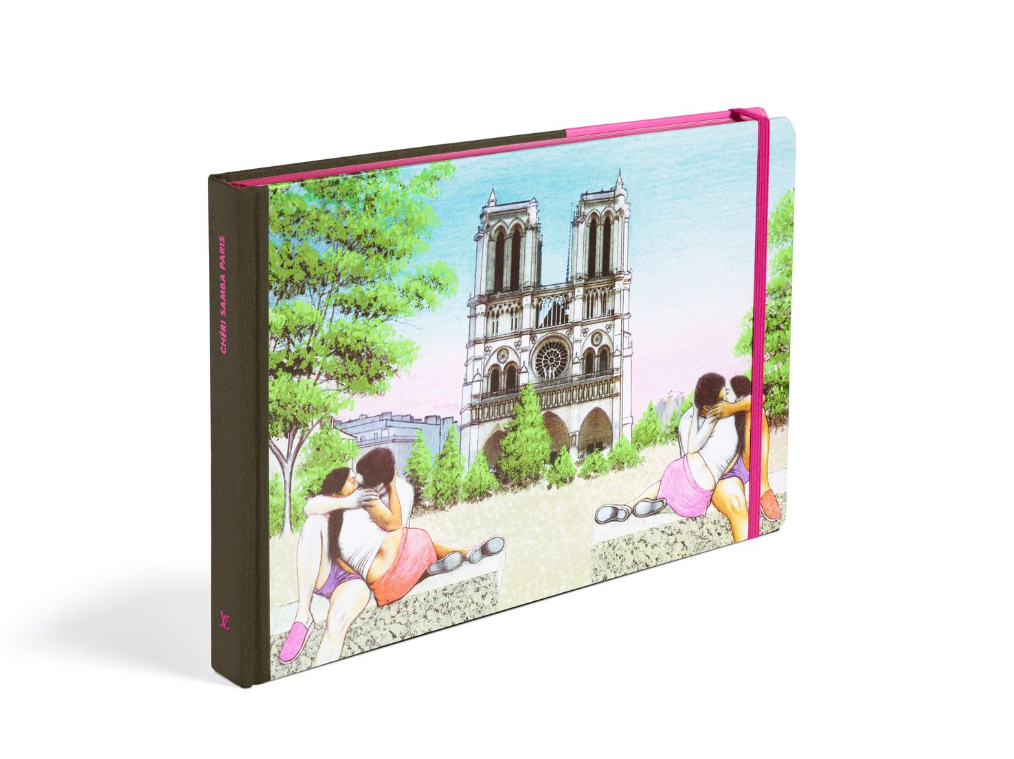 Louis Vuttion Travel Book 2013, Paris Illustrated by Cheri Samba
