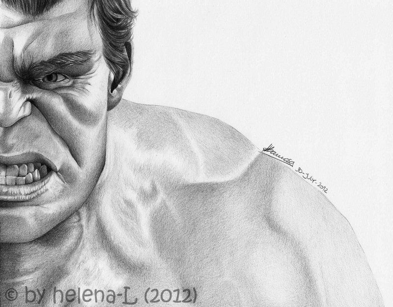 The Avengers Half Series Hulk By Helena L On Deviantart Marvel