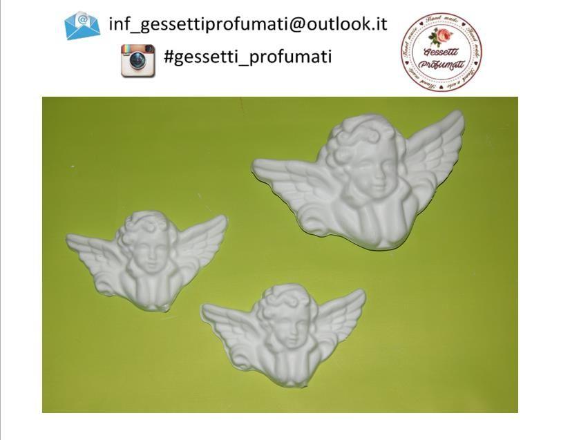 Gessetti profumati a forma di ANGELI <3 Ideali per bomboniere o regali, anche natalizi <3 Contattami per saperne di più :)