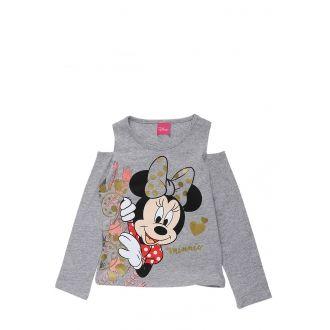 Disney Little Girls White Minnie Mouse Sweetie Short Sleeve Shirt Top 4-6X
