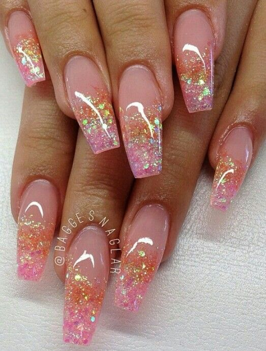 beautiful pink clear nail enamel
