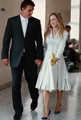 What do you wear to get married at the courthouse carrie big what do you wear to get married at the courthouse courthouse wedding dresscourthouse junglespirit Choice Image