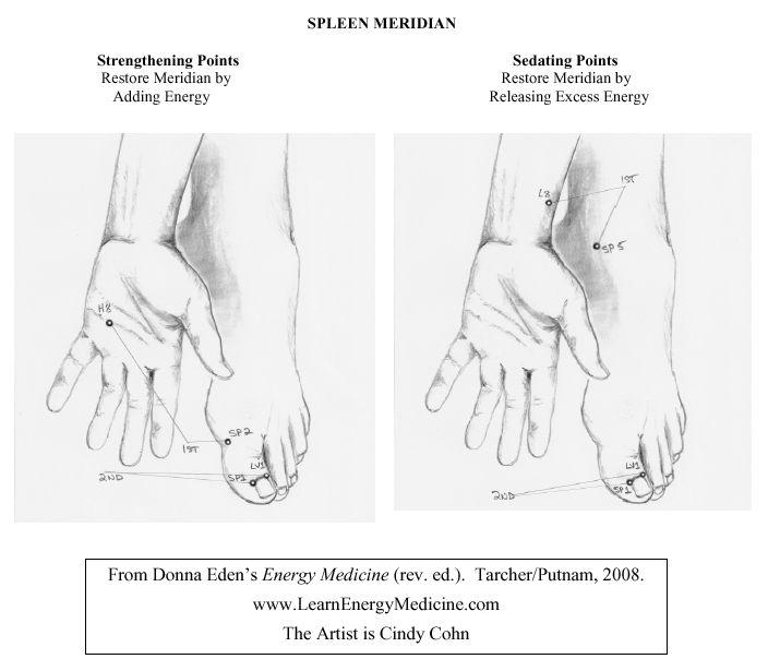 Spleen Meridian Strengthening & Sedating Points