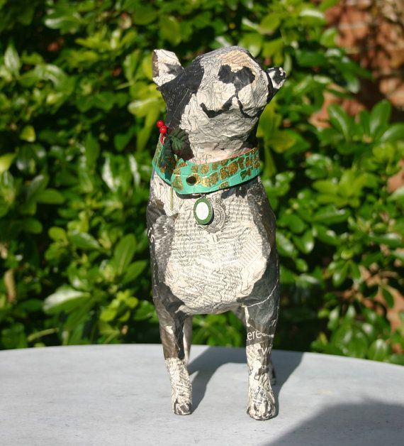 English Bull Terrier Dog in Papier Maché The by TheTerriersClub